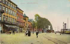 2505 Gezicht op het begin van de Loskade te Middelburg met de tram onder stoom