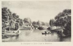 2603 Gezicht op de Noordpoort en buitenbrug te Middelburg. Naar steendruk van T.P. Roest, naar tekening van J.F. Schütz