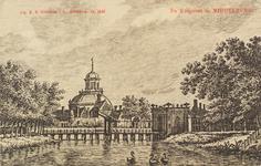 2676 Gezicht op de Koepoort met de Koepoortbrug te Middelburg en op de achtergrond de Oostkerk. Reproductie van een ...