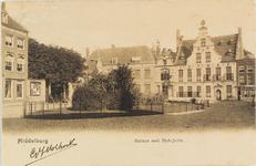 2848 Gezicht op de Balans te Middelburg met het plantsoen en de Sint Jorisdoelen