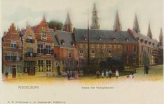 2857 Gezicht op de Balans te Middelburg met een deel van de Abdij