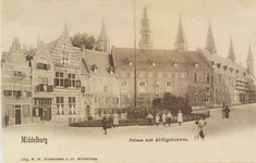 2858 Gezicht op de Balans te Middelburg met een deel van de Abdij