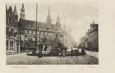 2866 Gezicht op de Balans te Middelburg met een deel van de Abdij, de Balanspoort en een deel van de Korte Burg