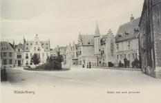 2890 Gezicht op de Balans te Middelburg met het plantsoen, de Sint Jorisdoelen en een deel van de Abdij