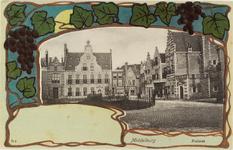 2893 Gezicht op de Balans te Middelburg met het plantsoen, fontein, de Sint Jorisdoelen en een deel van de Abdij. Met ...