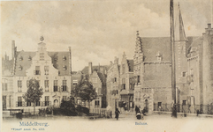 2897 Gezicht op de Balans te Middelburg met het plantsoen, de Sint Jorisdoelen en een deel van de Abdij