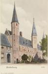 3005 Gezicht op de S.P.Q.M.-poort en het Rijksarchief aan het Abdijplein te Middelburg