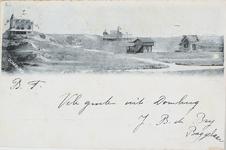 302 Gezicht op het Strandhotel en villa's in de duinen te Domburg