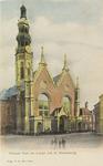 3280 Gezicht op de Nieuwe Kerk en de Abdijtoren aan de Groenmarkt te Middelburg