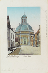 3371 Gezicht op de Oostkerk vanuit de Breestraat te Middelburg
