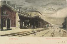 3536 Gezicht op de perronzijde van het station te Middelburg