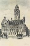 3741 Het stadhuis aan de Grote Markt te Middelburg