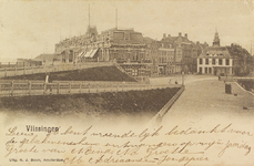 4007 Gezicht op het Beursplein met de beurs en de oprit naar Boulevard de Ruyter te Vlissingen