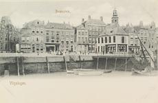 4008 De Koopmanshaven met daarachter het Beursplein en de beurs te Vlissingen