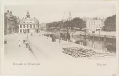 4013 Gezicht op het Beursplein met de beurs, de Voorhaven, de Beursbrug en de Koopmanshaven met de Bellamykade te Vlissingen