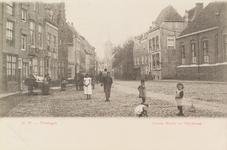 4029 De Slijkstraat te Vlissingen, gezien vanaf de Grote Markt met op de achtergrond de Korenmolen