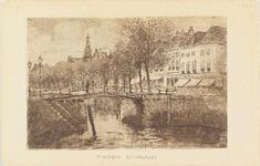 4067 De Koopmanshaven met de Bellamykade en de Beursbrug te Vlissingen, naar een ets