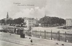 4198 Gezicht op de hoek Nieuwendijk / Bellamykade met de Beursbrug en hotel Goes te Vlissingen