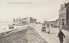 4427 Boulevard Evertsen met op de achtergrond Grand Hotel Britannia, gezien vanaf Boulevard Bankert te Vlissingen