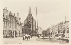 4634 Het postkantoor aan de Steenen Beer en de Rooms Katholieke Kerk te Vlissingen