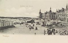 4933 Gezicht op Boulevard Evertsen en het strand te Vlissingen, met Grand Hotel Britannia