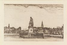4983 Het standbeeld van Michiel Adriaanszoon de Ruyter op het Keizersbolwerk te Vlissingen.Naar een ets van Louis Heymans