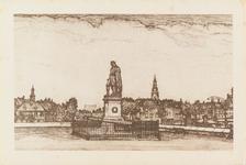 4984 Het standbeeld van Michiel Adriaanszoon de Ruyter op het Keizersbolwerk te VlissingenNaar een ets van Louis Heymans