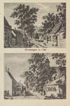 5105 Gezichten op de huidige Van Tilburghstraat te Driewegen in de achttiende eeuw. De bovenste toont links een ...