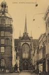 5263 Gezicht op de Grote Markt en de Korte Kerkstraat in Goes in de richting van de Maria Magdalenakerk, met links een ...