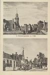 5462 Gezichten op 's-Gravenpolder, waarvan de bovenste de Nederlands-hervormde kerk toont, naar kopergravures uit de ...