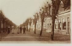 5821 Gezicht op de met leilinden beplante Dorpsstraat in Wemeldinge, met rechts het gemeentehuis