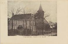 5989 Gezicht op de kerk en de pastorie te Colijnsplaat