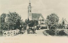 6207 Gezicht op de Nederlandse Hervormde kerk te Burgh vanaf de Weeldeweg