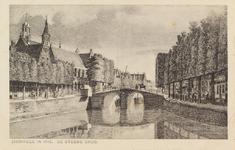 7100 Gezicht op de Steene of Breede Brug te Zierikzee, met links de Kleine of Gasthuiskerk, naar een achttiende-eeuwse ...