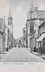 7425 Gezicht op de Hoogstraat in Tholen, met het post- en telegraafkantoor en het stadhuis