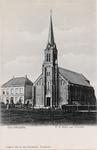 7546 Gezicht op de R.K. kerk en pastorie te Boschkapelle