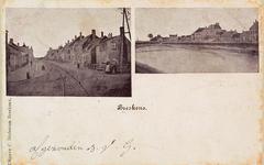 8150 Twee gezichten op Breskens: links de Dorpsstraat met de tramrails en rechts de Spuikom