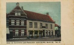 8436 De Markt te Oostburg met het hotel-café-restaurant De Commerce