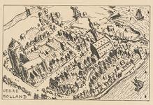 913 Getekende kaart van Veere