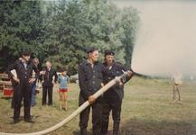 AR-0037-174 Haamstede. Kloosterweg. Oefening met de nieuwe brandweerauto