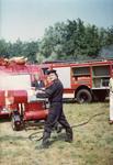 AR-0037-175 Haamstede. Kloosterweg. Oefening met de nieuwe brandweerauto.