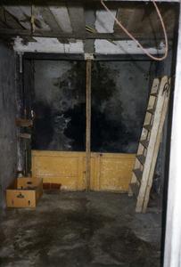 B-0078 Bruinisse. Oudestraat. Interieur van het voormalig arrestantenlokaal (in de volksmond ook wel genaamd het ...