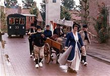 B-1177 Bruinisse. Pr. Wilhelminalaan. Viering 500 jaar Bruinisse. Ook Kaat mossel was aanwezig, en op de achtergrond de ...