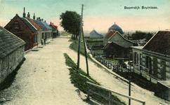 B-1452 Bruinisse. Boomdijk. De Boomdijk (Java), met links een oude meekrap schuur