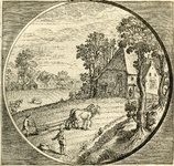 BB-0323-18 Illustratie in de Nederduytsche poëmata van Adriaen Hoffer, p. 189 bij Putrida fertilibus mandat sua semino ...