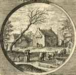 BB-0323-24 Illustratie in de Nederduytsche poëmata van Adriaen Hoffer, p. 389. Beatus ille .../ Geluckigh is de Man die ...