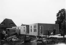 BRI-0002 Renesse. Bouw geschenkwoningen, bestemd voor inwoners van Brijdorpe. Ze stonden op de locatie van het huidige ...