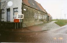 BRU-2318 Bruinisse. Noorddijk. Oude machinefabriek van Louw Padmos, afgebroken ca. 2009.