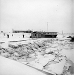 BRU-2379 Bruinisse. Haven. Directieketen van R.W.S en andere uitvoerders betrokken bij de bouw van de Grevelingendam.