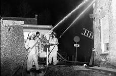 JVH-0019 Brouwershaven. Molenstraat. Uitslaande brand in het woonhuis van de 60-jarige P.R.J. De bewoner liep ...